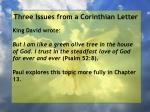 three issues from a corinthian letter18