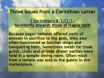 three issues from a corinthian letter2