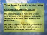 three issues from a corinthian letter42