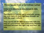 three issues from a corinthian letter48
