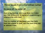 three issues from a corinthian letter54