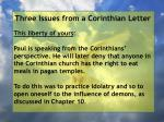 three issues from a corinthian letter56