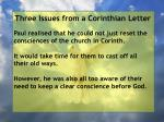 three issues from a corinthian letter64