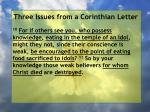 three issues from a corinthian letter65
