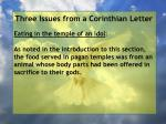 three issues from a corinthian letter67