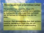 three issues from a corinthian letter7