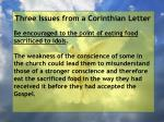 three issues from a corinthian letter71
