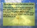 three issues from a corinthian letter79