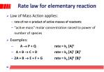 rate law for elementary reaction