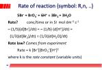 rate of reaction symbol r n