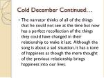 cold december continued