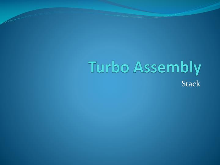 turbo assembly n.