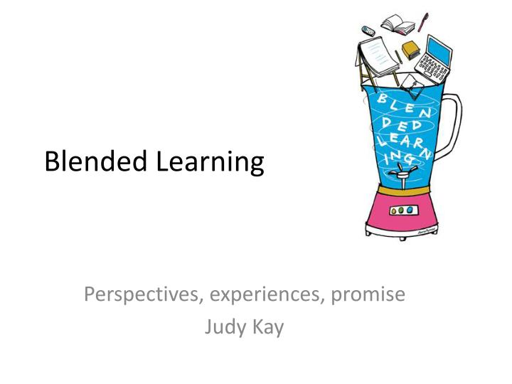 blended learning n.
