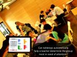 can tabletops automatically help a teacher determine the group most in need of attention