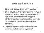 6098 say l tbk m 8