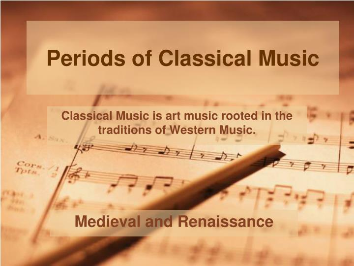 periods of classical music n.