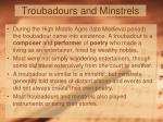 troubadours and minstrels