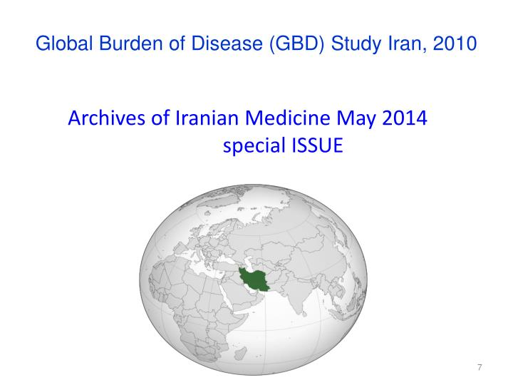 Global Burden of Disease (GBD) Study Iran, 2010