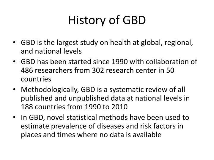 History of GBD