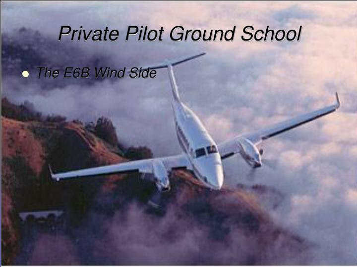 private pilot ground school n.