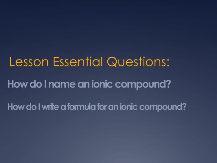 How do i name an ionic compound