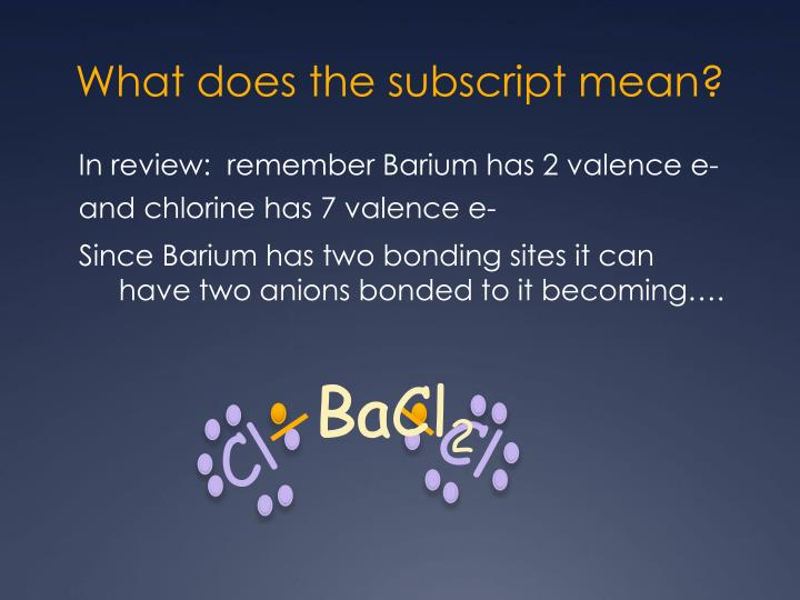 What does the subscript mean?