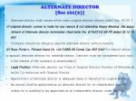 alternate director sec 161 2