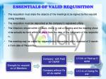 essentials of valid requisition