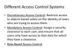different access control systems