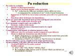 pu reduction