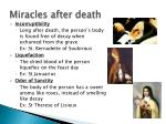 miracles after death