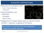 scraper operations