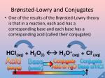 br nsted lowry and conjugates