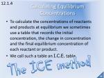 calculating equilibrium concentrations