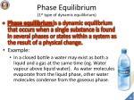 phase equilibrium 1 st type of dynamic equilibrium