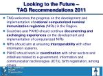 looking to the future tag recommendations 2011