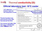 thermal conductivity ii