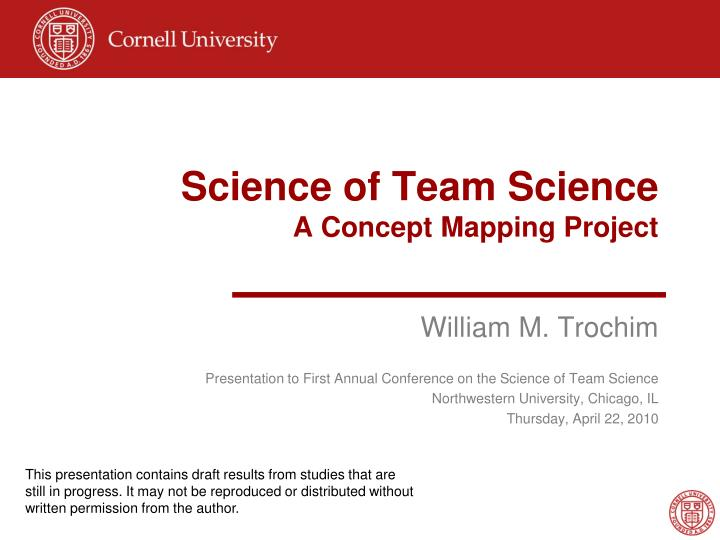 science of team science a concept mapping project n.