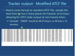 tracker output modified atcf file