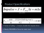 product specifications1