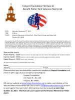 zz faf fairport foundation 5k race to b benefit potter park veterans memorial
