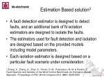 estimation based solution 3