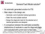 general fault model solution 6