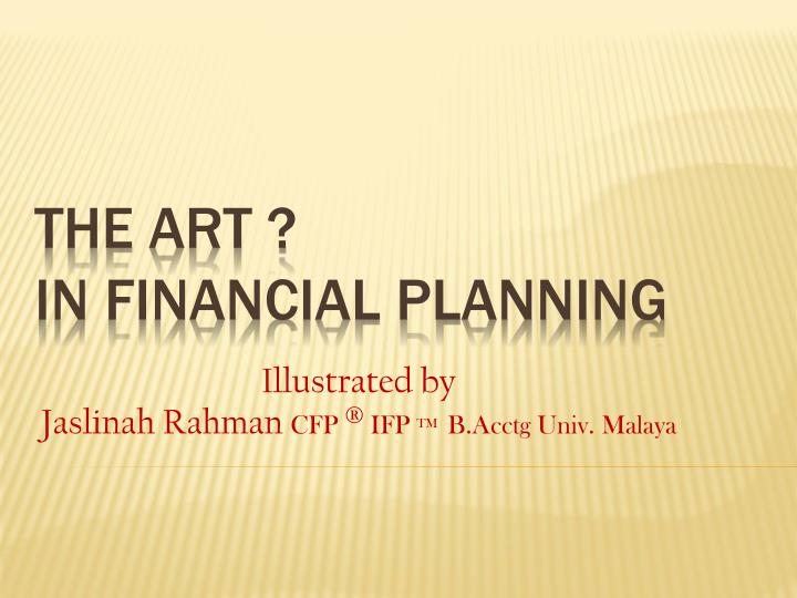 The art in financial planning