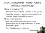 a new methodology human factors and automated design