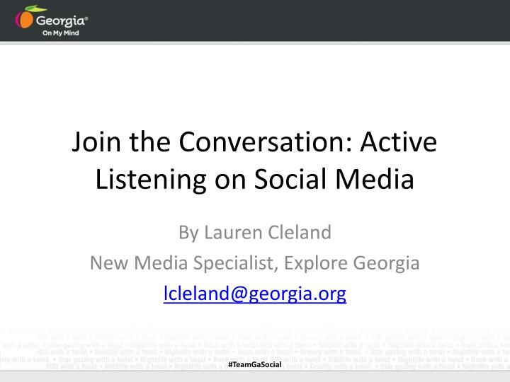 join the conversation active listening on social media n.