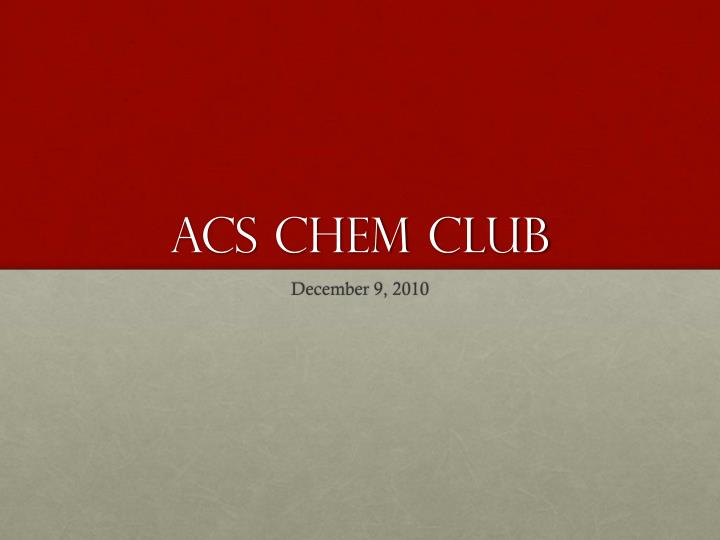 acs chem club n.