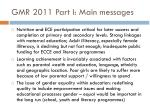 gmr 2011 part i main messages1