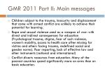 gmr 2011 part ii main messages1