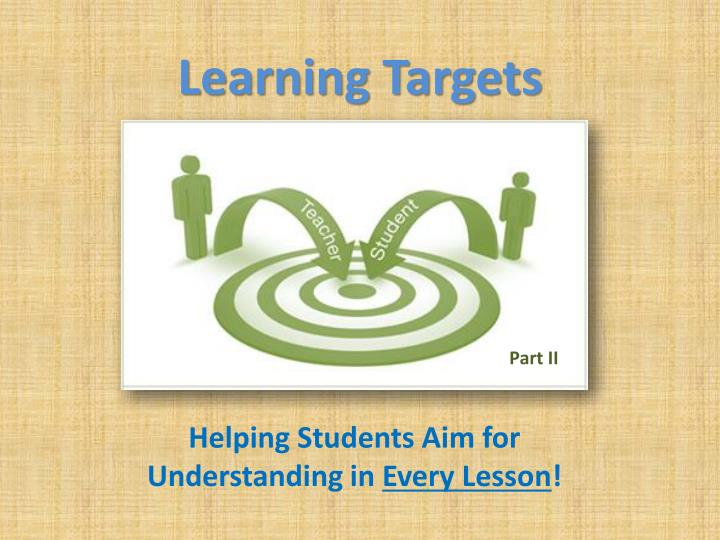 learning targets n.